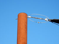 Rusted Exterior Pole